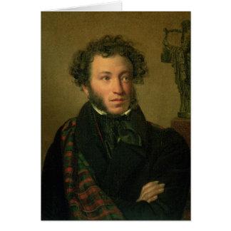 Portrait of Alexander Pushkin, 1827 Card