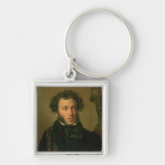 Portrait of Alexander Pushkin, 1827 Keychain