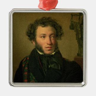 Portrait of Alexander Pushkin, 1827 Metal Ornament