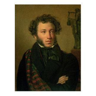 Portrait of Alexander Pushkin, 1827 Postcard