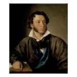 Portrait of Alexander Pushkin Posters