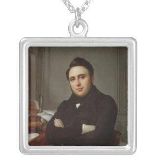 Portrait of Alexandre Auguste Ledru-Rollin Personalized Necklace