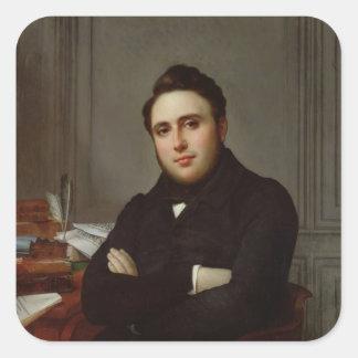 Portrait of Alexandre Auguste Ledru-Rollin Square Sticker