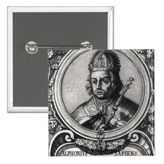 Portrait of Alfonso X  'the Wise' Pin