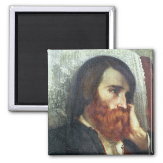 Portrait of Alfred Bruyas 2 Inch Square Magnet