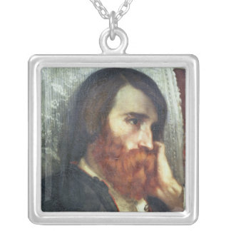 Portrait of Alfred Bruyas Silver Plated Necklace