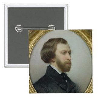 Portrait of Alfred de Musset  1854 Button