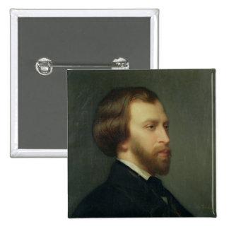 Portrait of Alfred de Musset Pinback Buttons