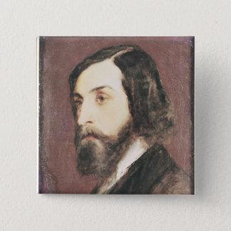 Portrait of Alfred de Musset Button