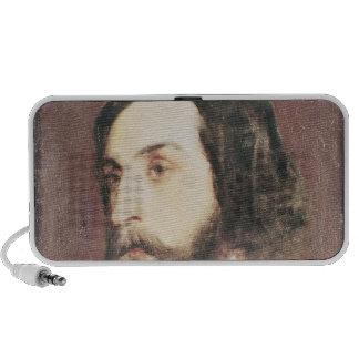 Portrait of Alfred de Musset Portable Speakers