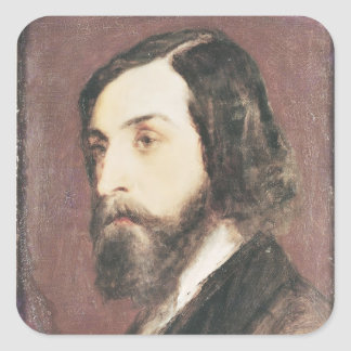 Portrait of Alfred de Musset Square Sticker