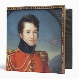 Portrait of Alfred de Vigny 3 Ring Binder