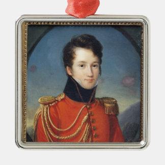 Portrait of Alfred de Vigny Metal Ornament