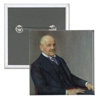 Portrait of Alfred Lichtwark  1912 Pinback Button