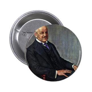 Portrait Of Alfred Lichtwark By Leopold Karl Walte Pinback Button