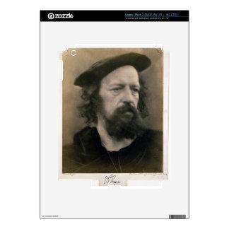 Portrait of Alfred, Lord Tennyson (1809-92) (b/w p iPad 3 Decal