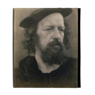 Portrait of Alfred, Lord Tennyson (1809-92) (b/w p iPad Cases