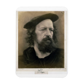 Portrait of Alfred, Lord Tennyson (1809-92) (b/w p Magnet