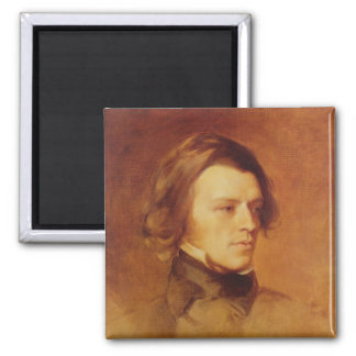 Portrait of Alfred Lord Tennyson 2 Inch Square Magnet