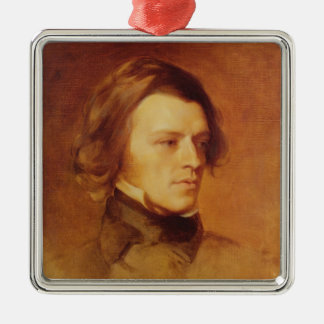 Portrait of Alfred Lord Tennyson Metal Ornament
