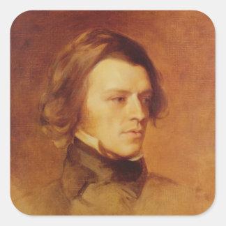 Portrait of Alfred Lord Tennyson Square Sticker
