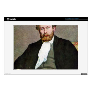 """Portrait of Alfred Sisley by Pierre Renoir Decal For 13"""" Laptop"""