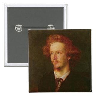 Portrait of Algernon Charles Swinburne  1867 Button