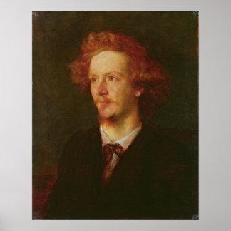 Portrait of Algernon Charles Swinburne  1867 Poster