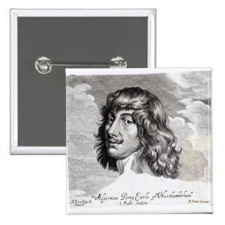 Portrait of Algernon Percy 2 Inch Square Button