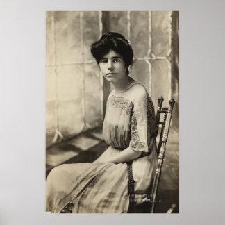 Portrait of Alice Paul Poster