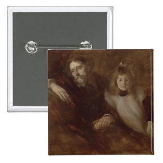 Portrait of Alphonse Daudet Pinback Button