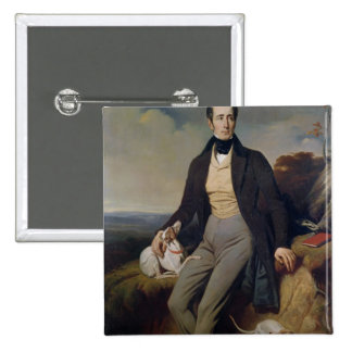 Portrait of Alphonse de Lamartine  1830 Pinback Button