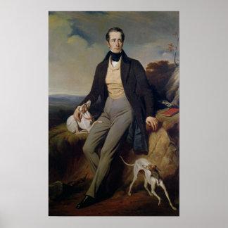 Portrait of Alphonse de Lamartine  1830 Poster