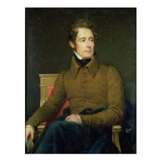 Portrait of Alphonse de Lamartine , 1831 Post Cards