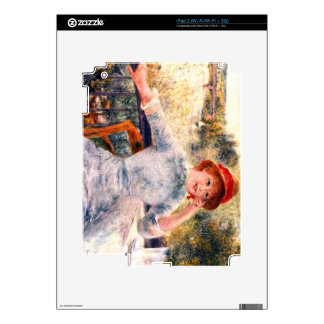 Portrait of Alphonsine Fournaise by Pierre Renoir Decal For iPad 2