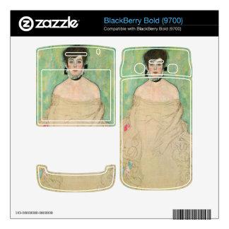 Portrait of Amalie Zuckerkandl by Gustav Klimt BlackBerry Decals