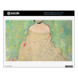 Portrait of Amalie Zuckerkandl by Gustav Klimt Medium Netbook Decal