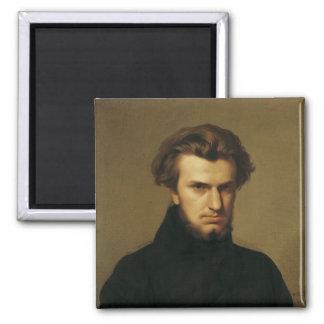 Portrait of Ambroise Thomas  1834 2 Inch Square Magnet