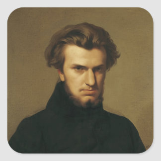Portrait of Ambroise Thomas  1834 Square Sticker