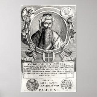 Portrait of Amedee VIII Le Pacifique Posters