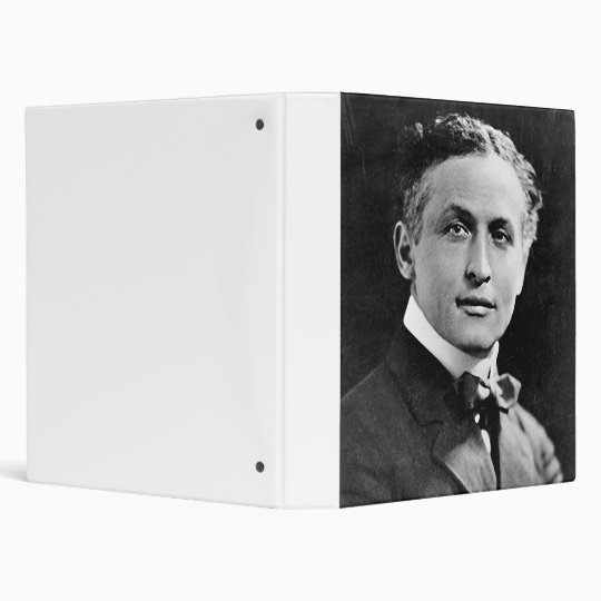 Portrait of American Magician Harry Houdini 3 Ring Binder