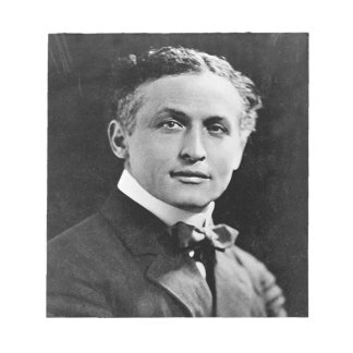 Portrait of American Magician Harry Houdini Notepad