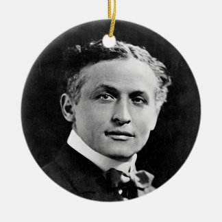 Portrait of American Magician Harry Houdini Ornaments