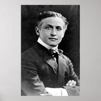 Portrait of American Magician Harry Houdini Poster
