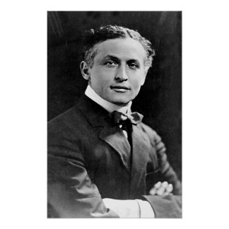 Portrait of American Magician Harry Houdini Poster