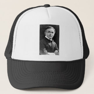 Portrait of American Magician Harry Houdini Trucker Hat