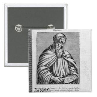Portrait of Amerigo Vespucci 2 Inch Square Button