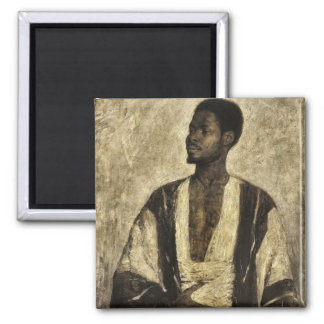 Portrait of an African man 2 Inch Square Magnet