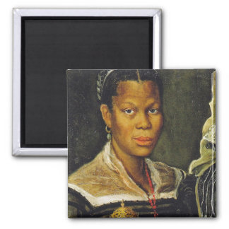 Portrait of an African Slave Woman 2 Inch Square Magnet