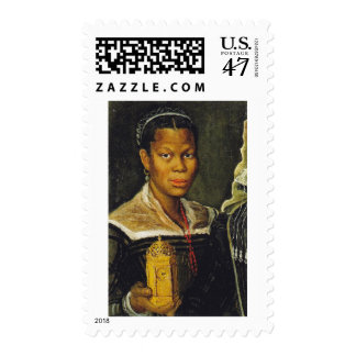 Portrait of an African Slave Woman Postage